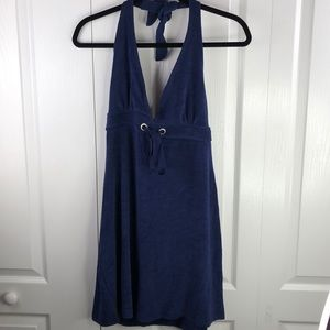 Venus Terry Halter Dress